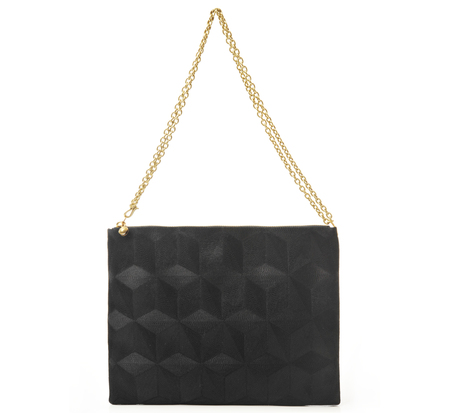 Anne Grand-Clément Plain Black Large Pouch