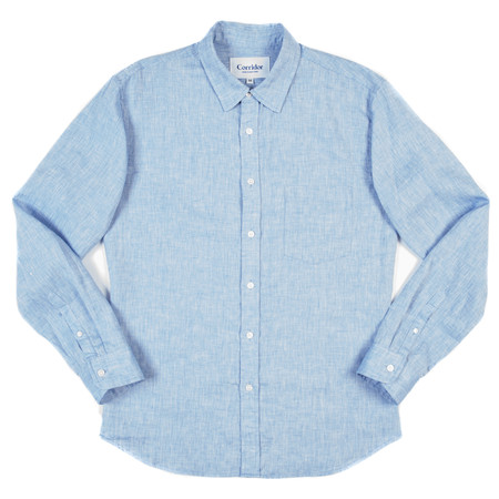 Corridor Long Sleeve Woven Shirt - Blue Linen