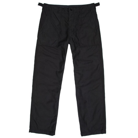 Engineered Garments Fatigue Pant - Black Cotton Reversed Sateen