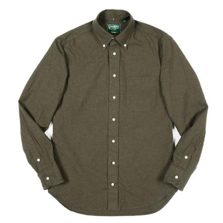 Gitman Vintage Gitman Button-Down Shirt - Loden Green Flannel