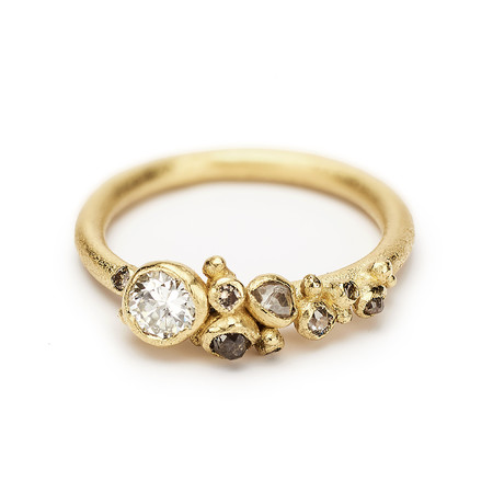 Diamond Cluster Ring - 18k Yellow Gold