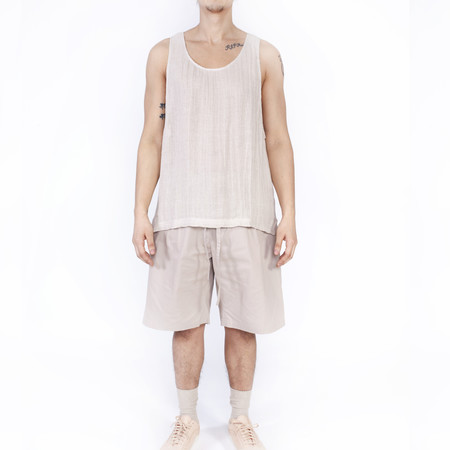 S.K. Manor Hill Linen Tank Top - Natural