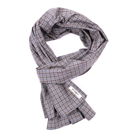 The Hill-side Scarf - Black & Tan Covert Gun Check