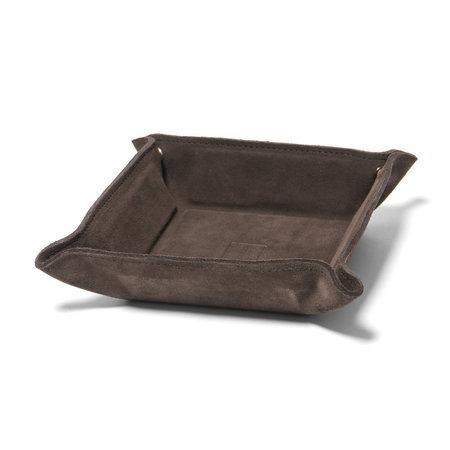 Maple Desk Tray (Suede) - Brown