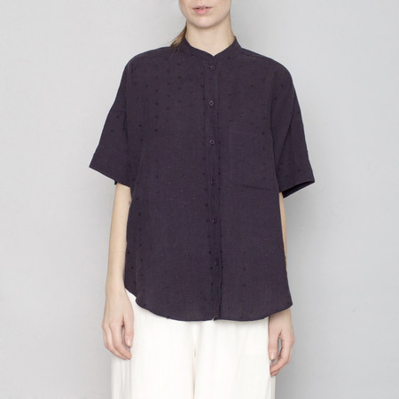 7115 by Szeki Linen Pocket Shirt - Navy
