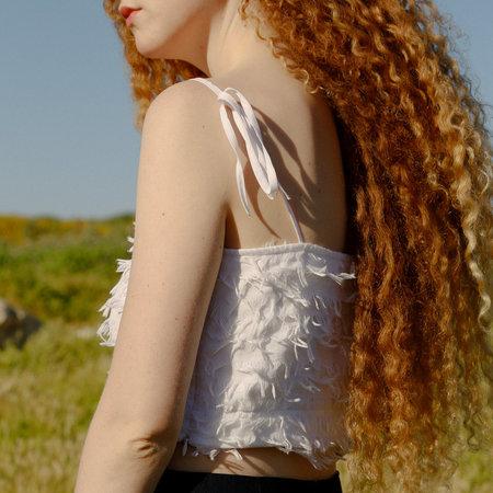Nikki Chasin Crane Tie Cami - White Feather