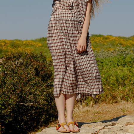 Nikki Chasin Lingo Buttonfront Skirt - Burgundy Multi