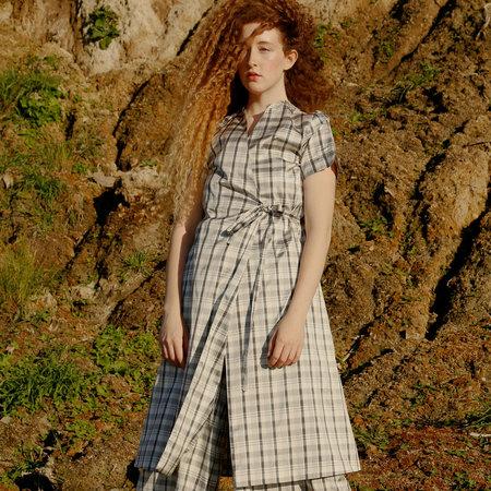 Nikki Chasin Leda Wrap Dress - Silk Plaid