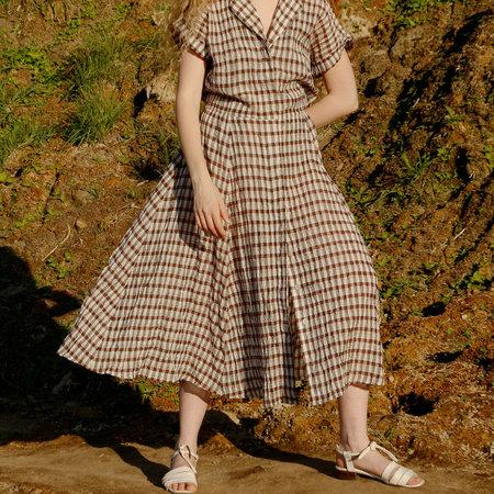 Nikki Chasin Rally Buttonfront Dress - Burgundy Multi
