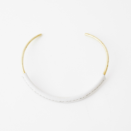 Crescioni kiva necklace white
