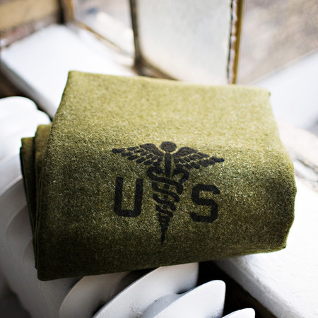Faribault Foot Soldier Military Wool Blanket - ARMY MEDIC