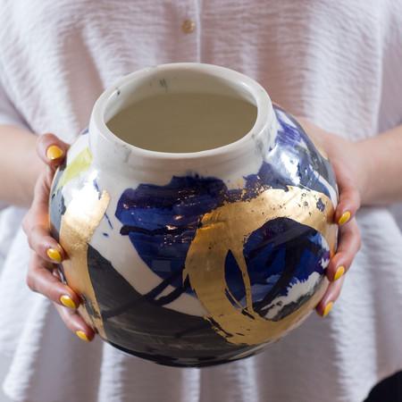 Yolande Clark 'Blue Vase'