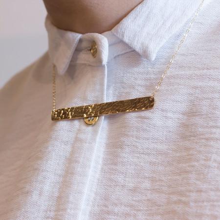 Katye Landry Large Bar Necklace - Yellow Gold Fill