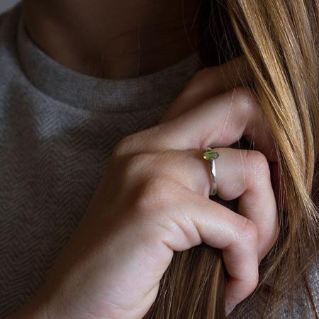 Sarah De Gasperis Reverse Peridot Ring