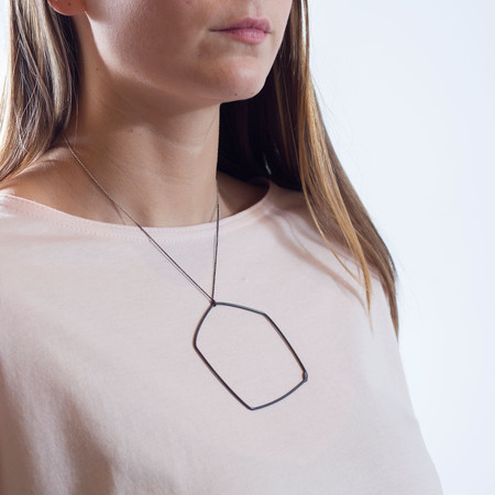 Gabrielle Desmarais Oxidized Large Single Element Necklace