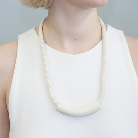 YYY 'White Tube Necklace'