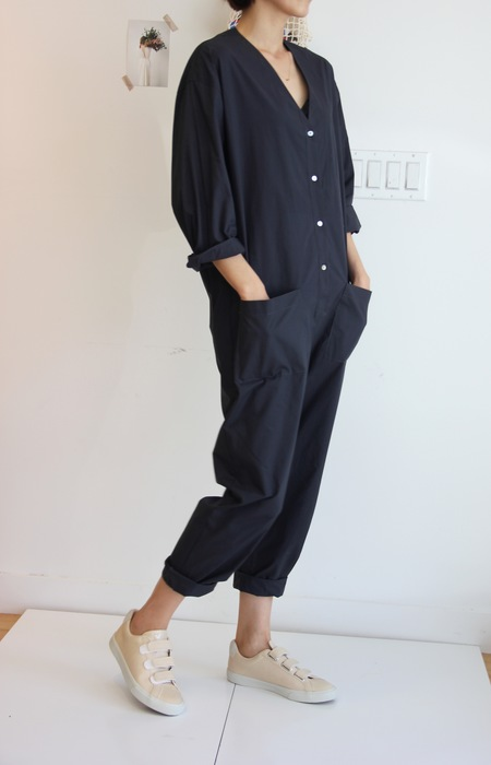 Horses Atelier V-Neck Patch Pocket Jumpsuit