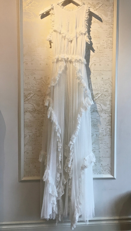 Ulla Johnson 'Florence' Swiss Dot Lace Gown