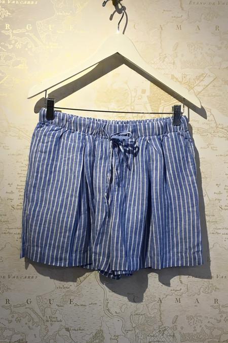 Birds of Paradis Linen Stripe Shorts