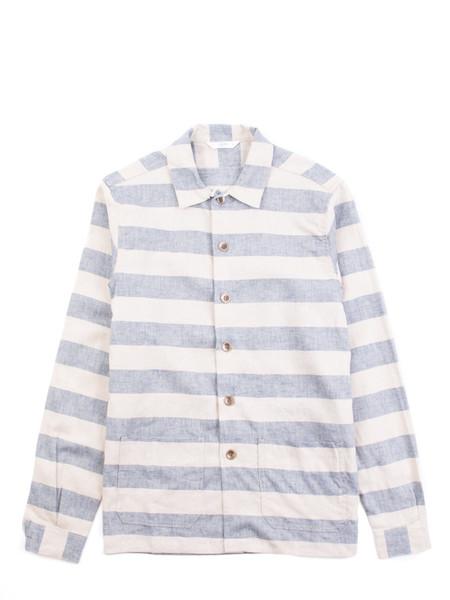 3Sixteen Prison Shirt Stone/Navy Stripe