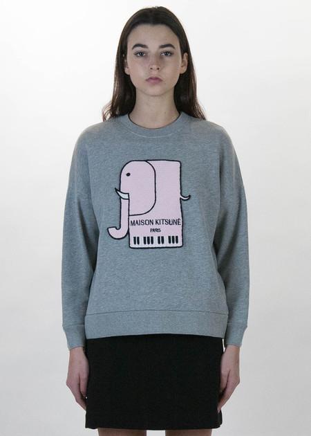 Maison Kitsune Grey Elephant Sweatshirt