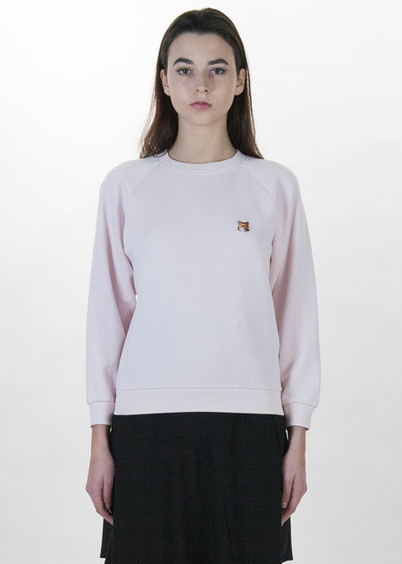 Maison Kitsune Pink Fox Head Patch Sweatshirt