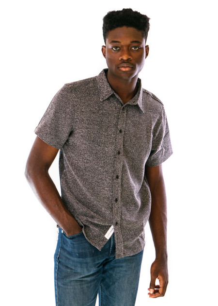 Native Youth Budleigh Shirt - Charcoal