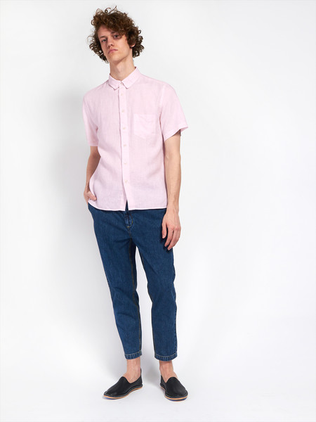 Rose Linen Pocket Shirt