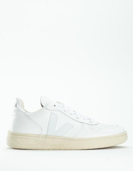 Veja V-10 Leather Sneaker Extra White