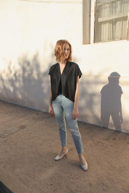 Miranda Bennett Everyday Top in Cropped Black