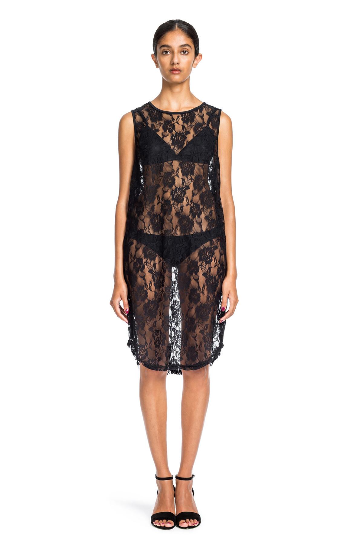Beth Richards Lace Pilar Dress - Black Lace LACE MAXI COVER UP ...