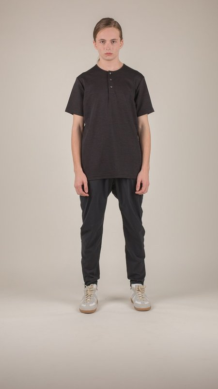 wings + horns - Black Link Knit Henley