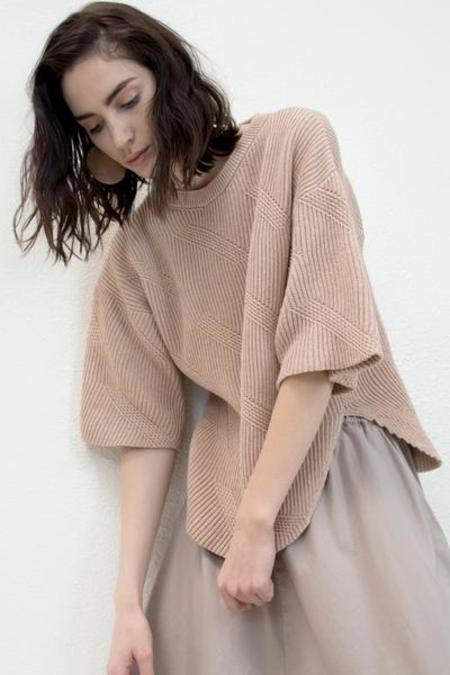 Micaela Greg Dash Sweater - Nude