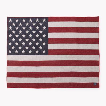 Faribault  American Flag Wool Throw