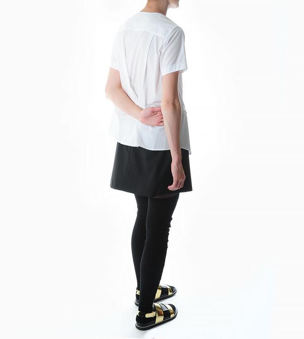 Sacai Luck Leather & Knit Combination Thigh-High Socks