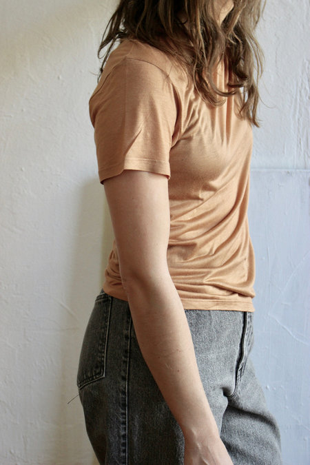 Baserange Tee Shirt in Nude 3