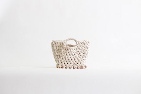 TARYN URUSHIDO Crochet Bag - Ivory