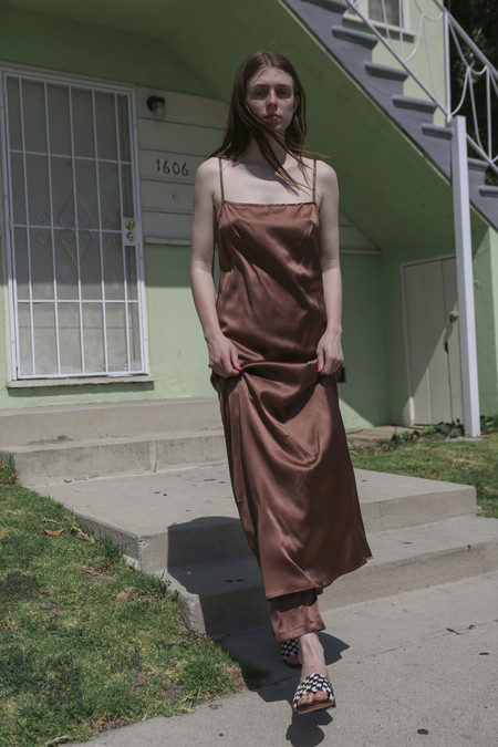 Baserange Yogi Dress in Dark Brown