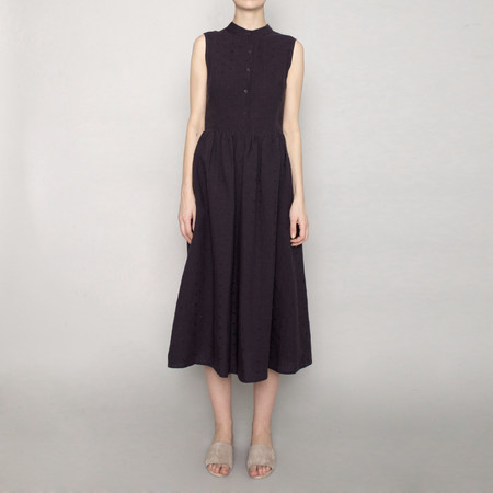 7115 by Szeki Textured Princess Dress - Navy - SS17