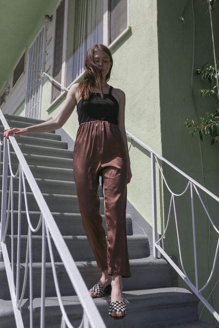 Baserange Azour Highwaist Pant in Dark Brown