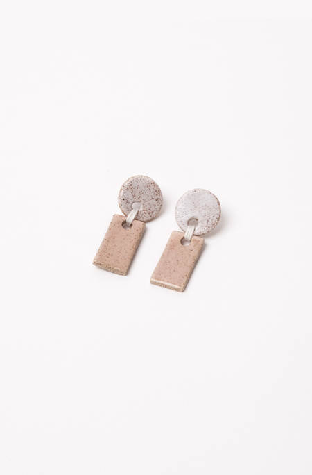 Gamma Folk Yume Earrings - White/Blush
