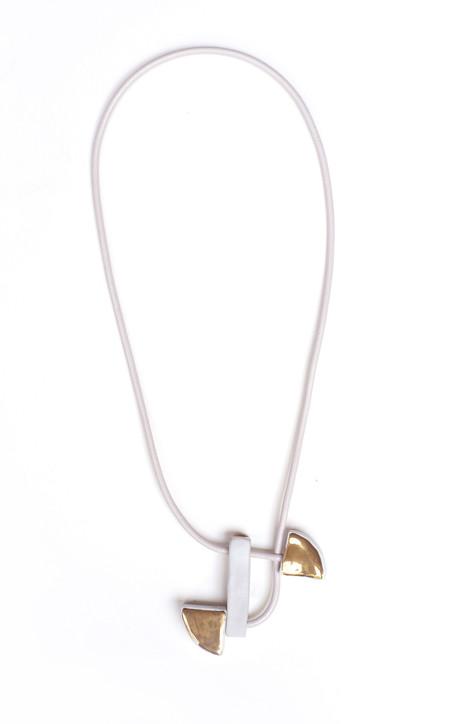 Jujumade – Draped Gold Slice Necklace