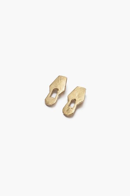 Osei-Duro Cut Out Earrings - Brass