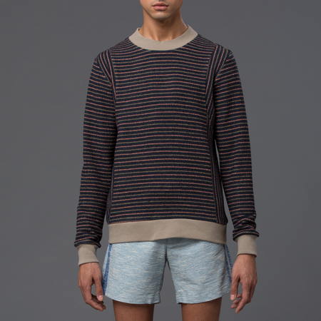 THADDEUS O'NEIL - Striped Jumper - Flamingo Pink Stripe