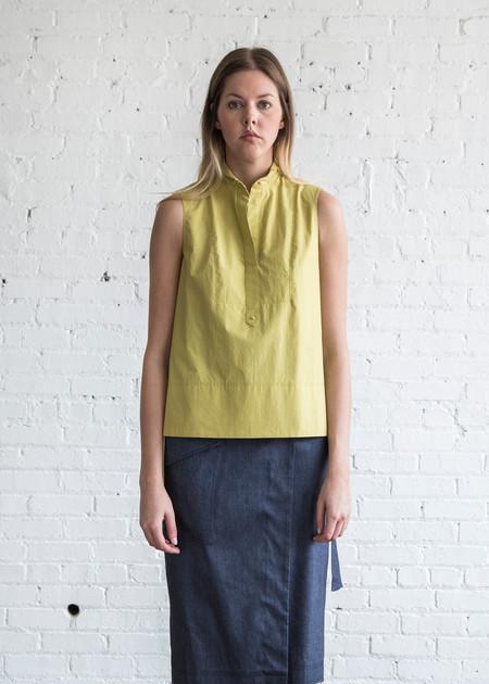 Schai Tux Shirt Chartreuse