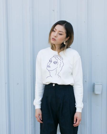 Paloma Wool Guiri Faces Sweatshirt