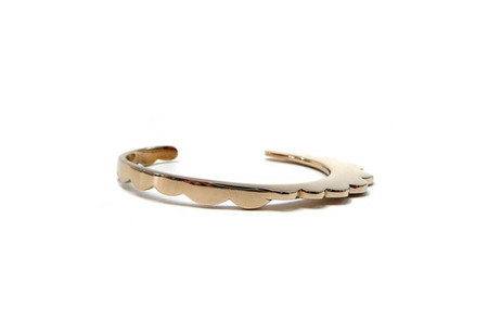 Annie Costello Brown Asymmetrical Scallop Cuff