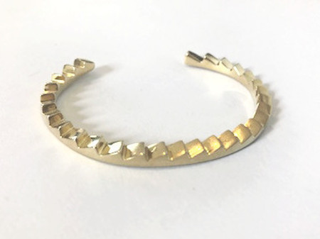 Annie Costello Brown Mini Zigzag Cuff