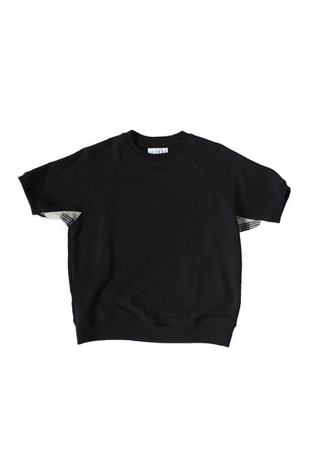 Unisex SEEKER Raglan Sweatshirt in Black