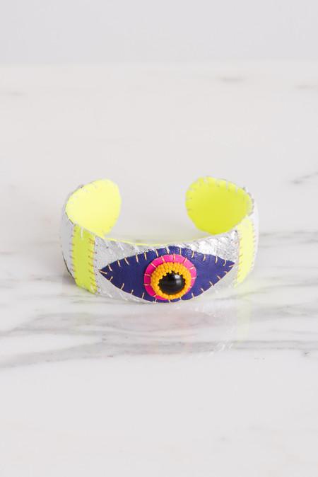 Robin Mollicone Eye Cuff in Onyx/Pink